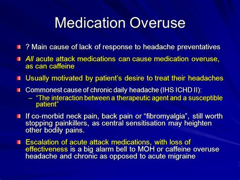 Medication Overuse Headache Detox by Non Headache Manifestations Of Migraine Ppt