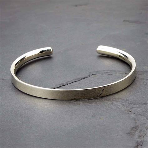 silver personalised s bracelet by hersey silversmiths