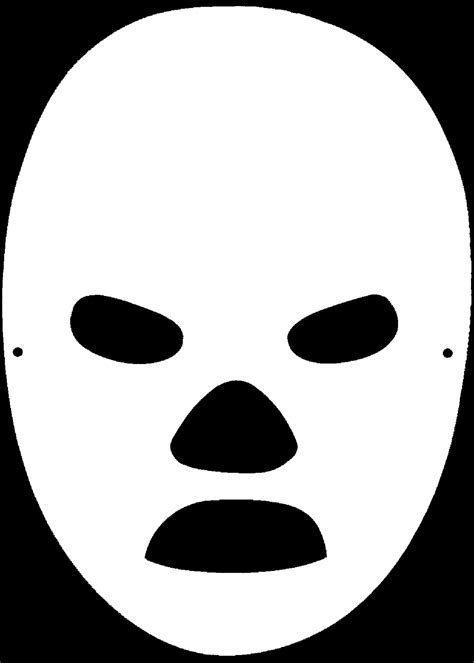 blank mask template best photos of blank template mask mask