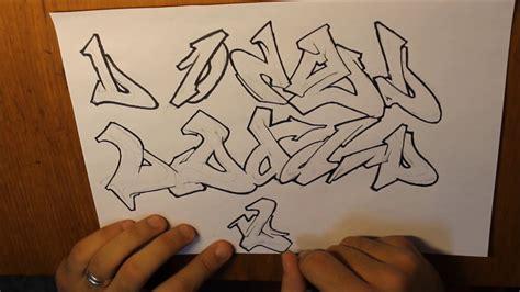 graffiti letter  wildstyle tutorial youtube