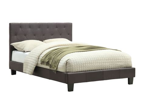 Grey Upholstered Bed Frame Grey Fabric Upholstered Bed Frame Caravana Furniture