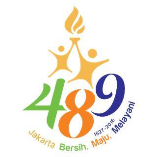 Ulang Tahun Jakarta 2018 Dp Bbm Hut Jakarta 489 Gambar Logo Ulang Tahun Jakarta