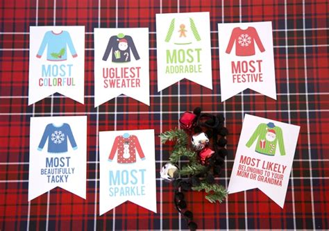 printable ugly christmas sweater awards ugly sweater party awards my sister s suitcase packed