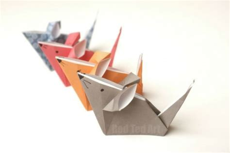 Papercraft Models For Beginners - origami mice a paper mouse craft ted s