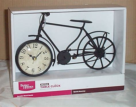 bike clock table home decor mantle shelf decoration