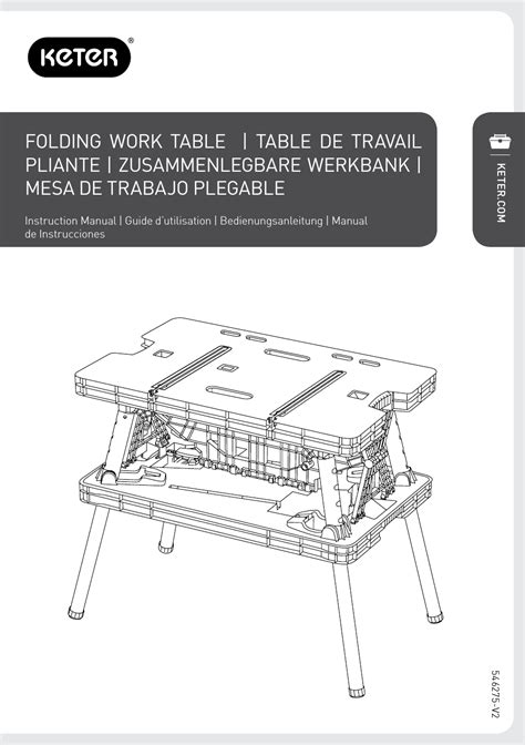 Keter Folding Work Table Ex by Keter Folding Work Table Ex User Manual 20 Pages Also