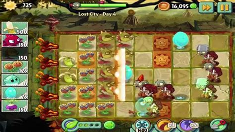 Plants Vs 4 plants vs zombies 2 lost city day 4 walkthrough