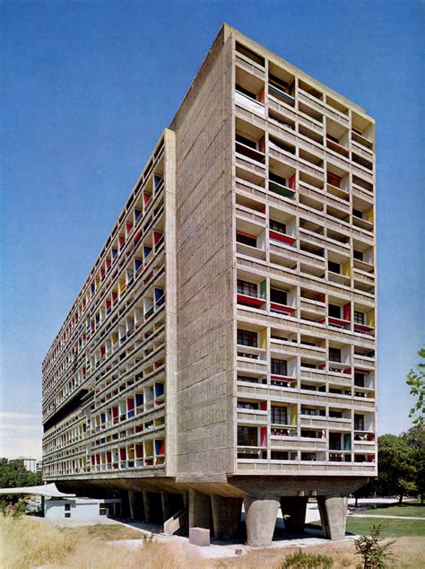 famous living architects unite d habitation marseilles france 1946 1952 le