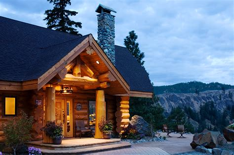 Summit Handcrafted Log Homes - rainier summit log timber homes