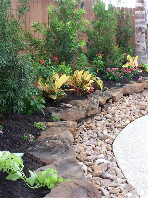 rock landscaping ideas backyard gravel landscaping design home ideas pictures homecolors