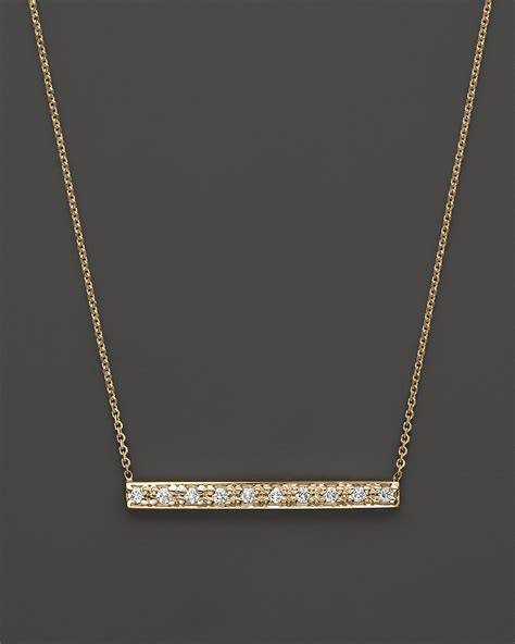 kc designs bar pendant necklace in 14k yellow gold