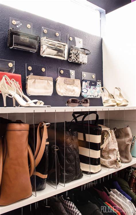 Bag Organizer For Closet by Diy Purse Organizer Acrylic Clutch Holder Tutorial
