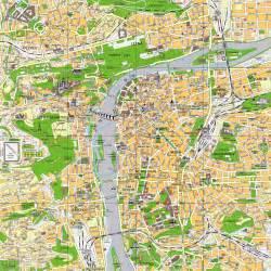 center map prague city center map prague republic mappery