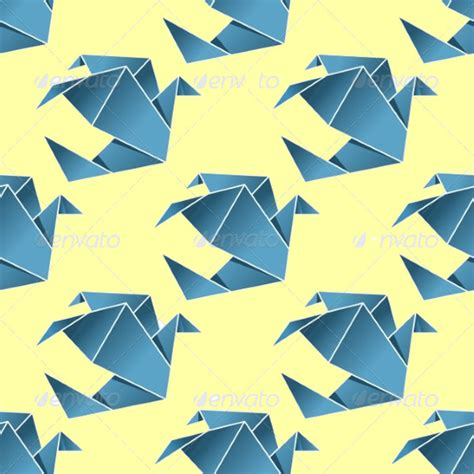 Origami Bird Pattern - 20 seamless bird patterns psd vector eps jpg