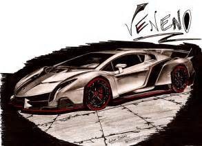 How To Draw Lamborghini Veneno Lamborghini Veneno By Vsales On Deviantart