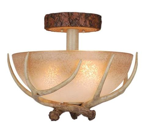 Lodge Ceiling Lights Vaxcel International Lodge 16in Semi Flush Ceiling Light Noachian Cf33016ns From Lodge