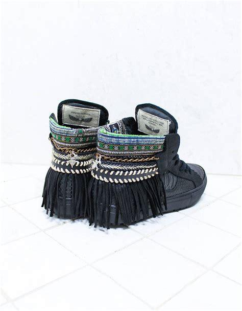 boho sneakers boho sneakers with fringe shop swank