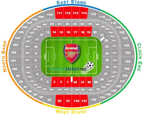 emirates stadium floor plan buy arsenal vs manchester united premier league football