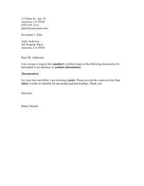 printable document request letter legal pleading template