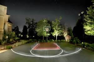 Outdoor basketball court landscape modern with basket ball court