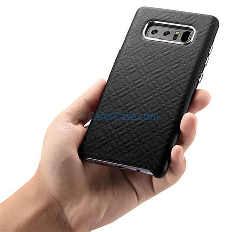 Soft Samsung Galaxy Note 8 Leather Pattern Black icarer samsung galaxy note 8 check pattern luxury back
