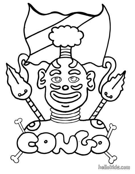 Coloring Pages Of Africa Congo Coloring Pages Hellokids Com by Coloring Pages Of Africa