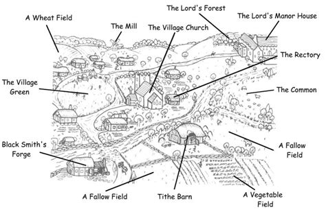 typical biography layout medieval village anatomy 101 my literary quest