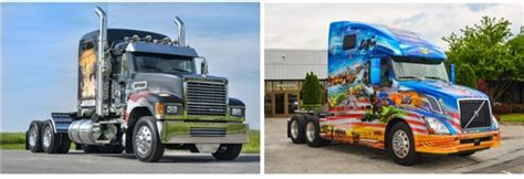 mack and volvo trucks volvo and mack honor veterans with ride for freedom trucks