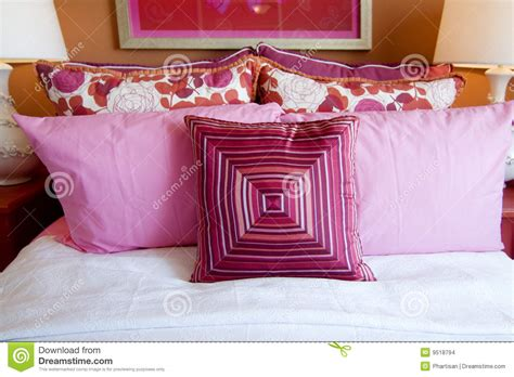 cushions for girls bedroom pretty fun pink bedroom cushions stock images image 9518794