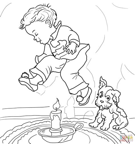 jack be nimble coloring page free printable coloring pages
