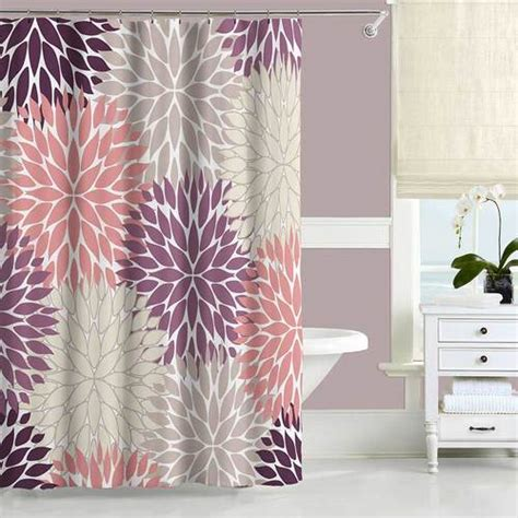red and tan shower curtain dahlia shower curtain in red tan and gray