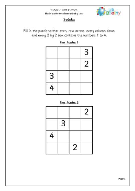 printable sudoku for ks2 sudoku first