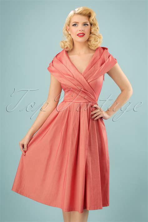 swing lindy 50s swing dress in pearl pink