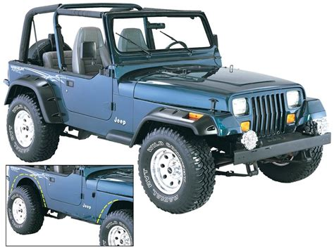 bushwacker 10909 07 cut out fender flares for 87 95 jeep