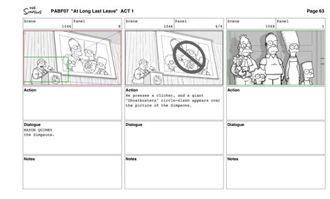 top layout guide without storyboard how an episode of the simpsons is made the verge