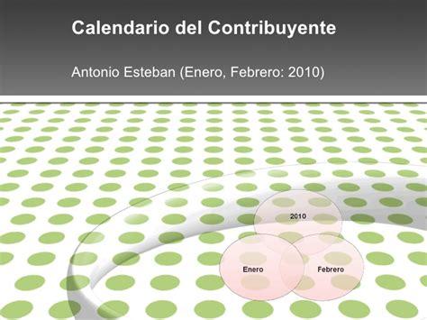 Calendario Febrero 2010 Calendario Fiscal Enero Febrero 2010