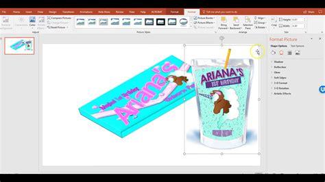 Publisher Party Favor Capri Sun Juice Pouch Template And Mock Up Unicorn Theme Youtube Sun Label Template