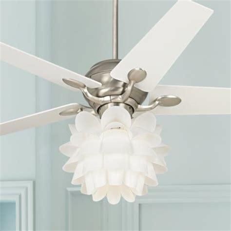 52 quot casa optima white flower ceiling fan 86646 32431