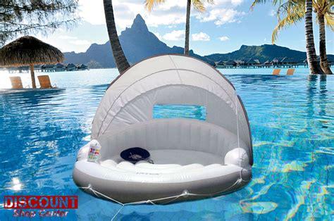Intex Canopy Island 58292 intex floating lounge canopy chair island raft