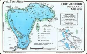 lake jackson osceola co bass map maps