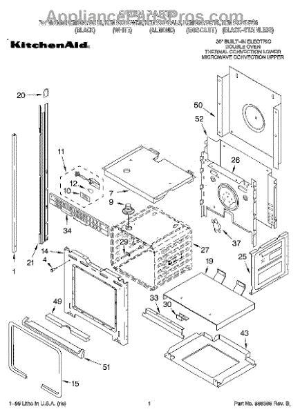 kitchenaid microwave parts diagram parts for kitchenaid kems307dwh6 oven parts