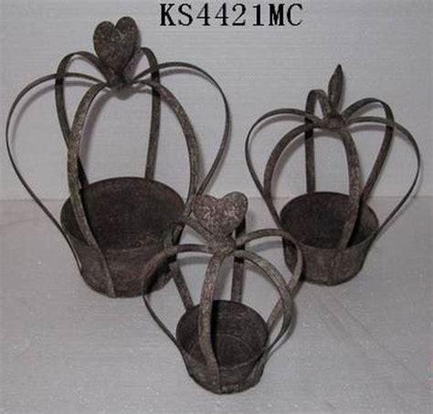 garden vintage outdoor metal crown decor buy metal crown
