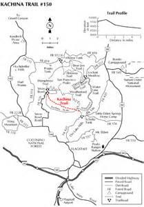 arizona hiking trail maps kachina trail 150 hiking arizona hikearizona