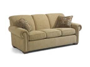 bassett couches and sofas flexsteel living room sofa 5988 30 woodley s furniture