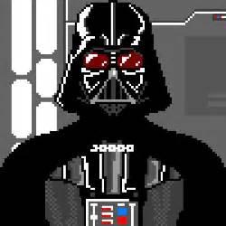pixel art darth vader and star wars on pinterest