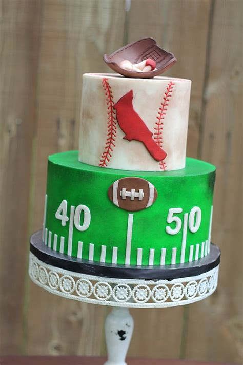 Baby Shower Football Cakes by Baby Shower Smash Cakes 187 Charity Fent Cake Design