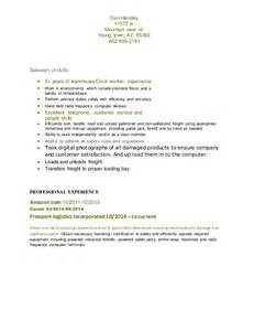 Dock Worker Cover Letter by Resume Dock Worker