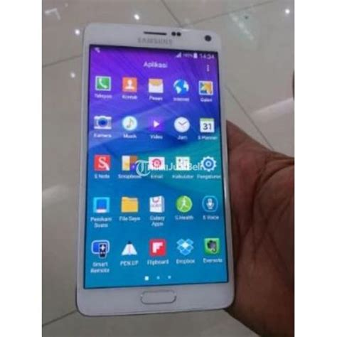 Harga Samsung Note 4 smartphone samsung galaxy note 4 white second fullset