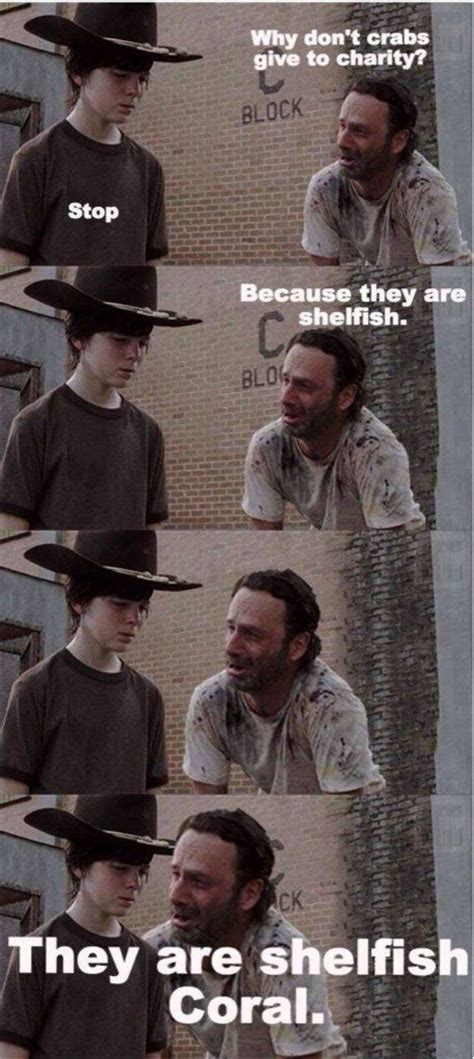 Walking Dead Meme Rick Crying - 31 of the best dad jokes told by walking dead s rick
