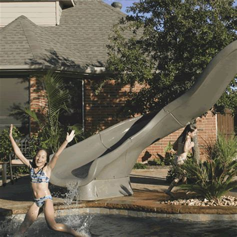 backyard city pools pool slides are always a hit swimming pool